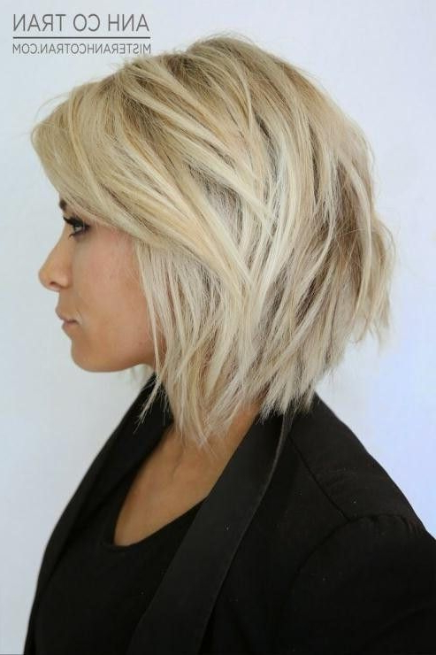 Short Stacked Bobs For Fine Hair | Haircuts Gallery In 2018 In Choppy Tousled Bob Haircuts For Fine Hair (View 9 of 25)