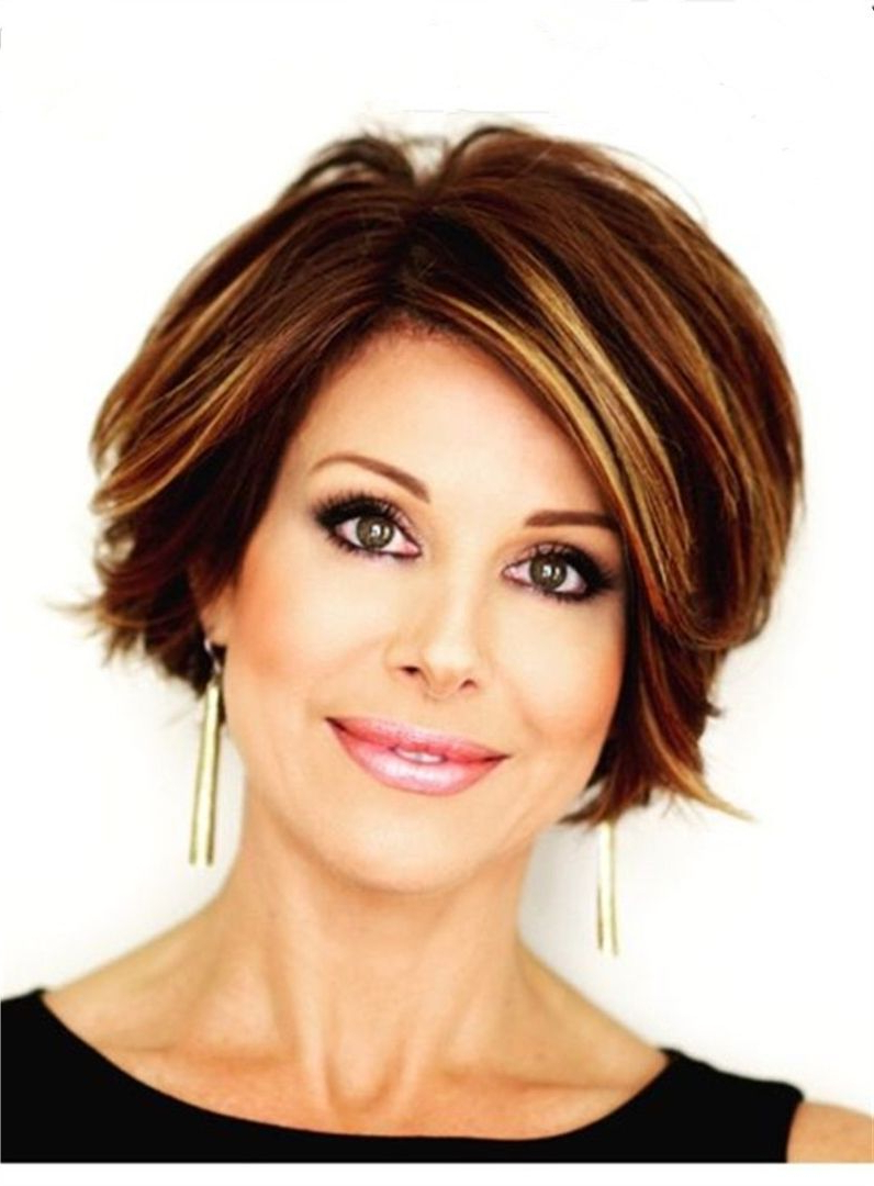 Short Straight Mixed Color Lob Side Swept Fringes Hairstyle Lace Throughout Side Swept Short Hairstyles (View 13 of 25)