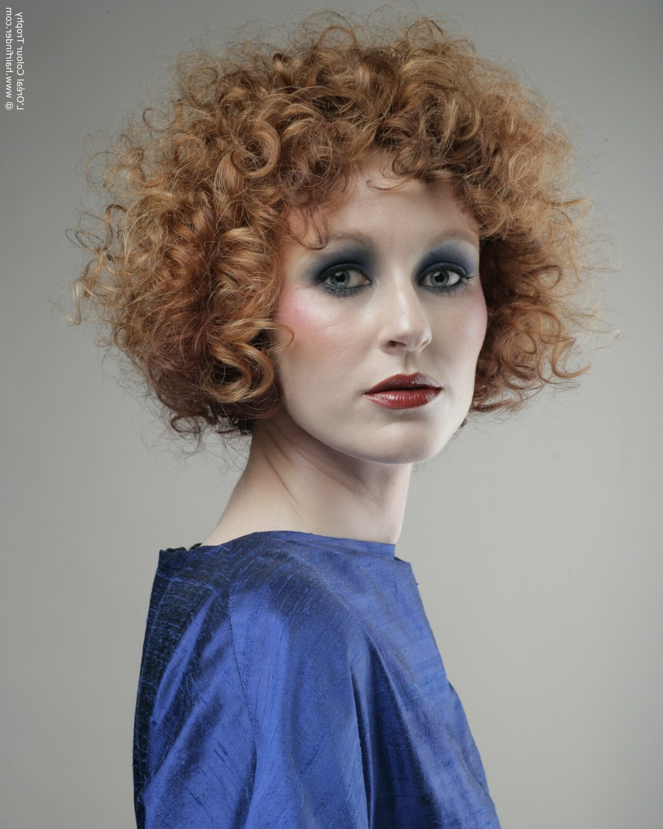 Short Strawberry Blonde Hair With Curls Of Different Shapes Throughout Strawberry Blonde Short Hairstyles (View 15 of 25)