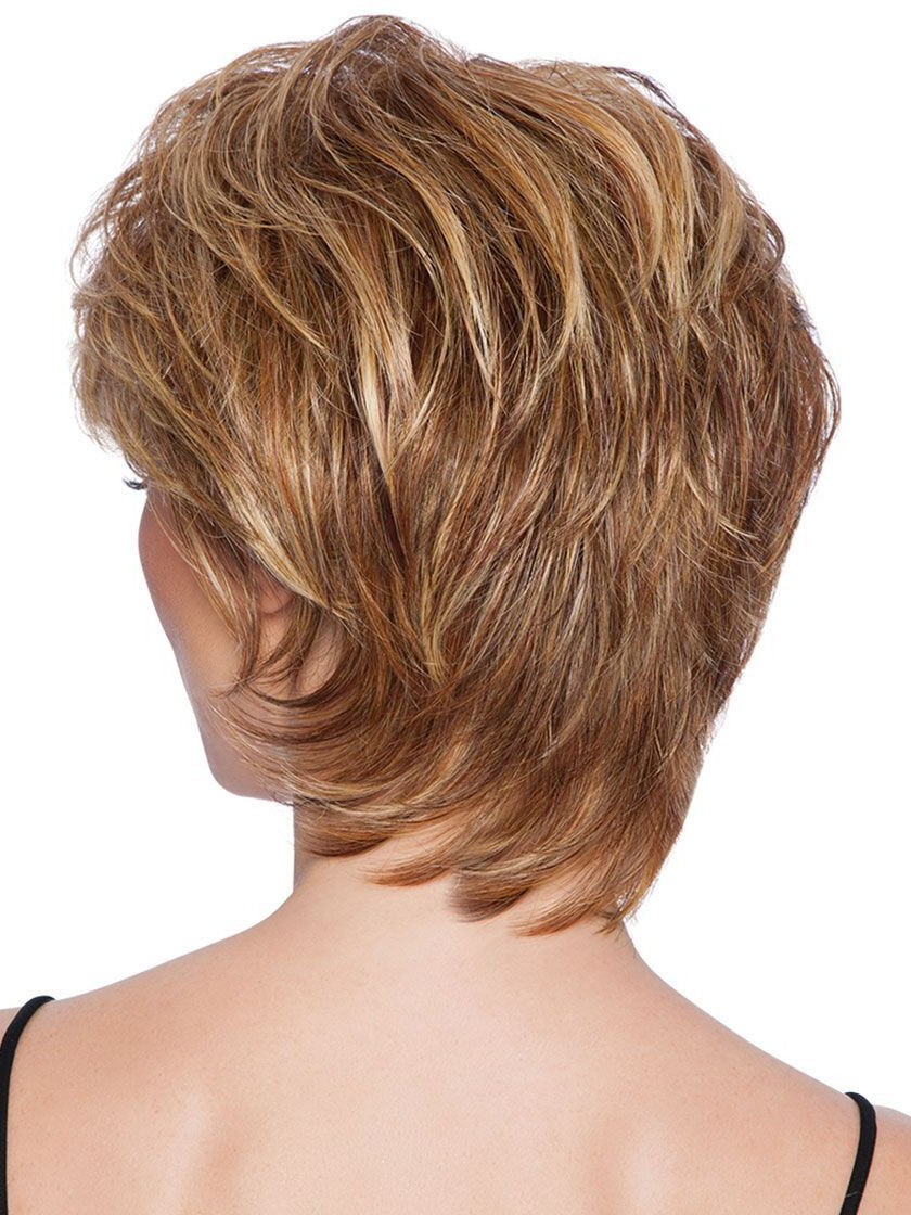 Short Tapered Crop Heat Friendly Synthetic Wig – Wigs Pertaining To Tapered Brown Pixie Hairstyles With Ginger Curls (View 23 of 25)