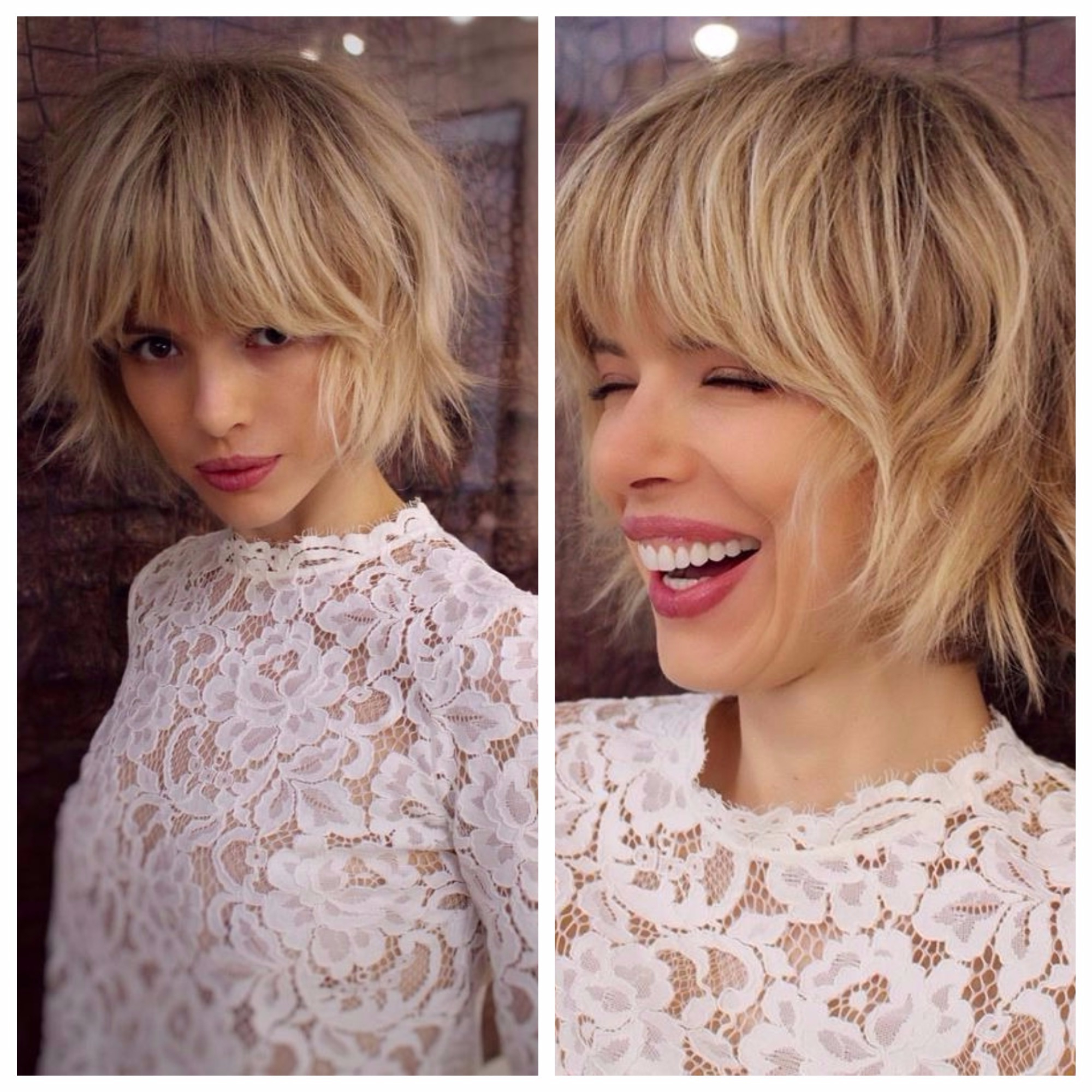 Short Textured Bob With Bangs For Fine Hair – Hair World Magazine With Regard To Short Bob Hairstyles With Long Edgy Layers (View 12 of 25)