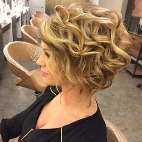 Short Wavy Curly Hairstyles – Love This Hair With Short Wavy Blonde Balayage Bob Hairstyles (View 21 of 25)