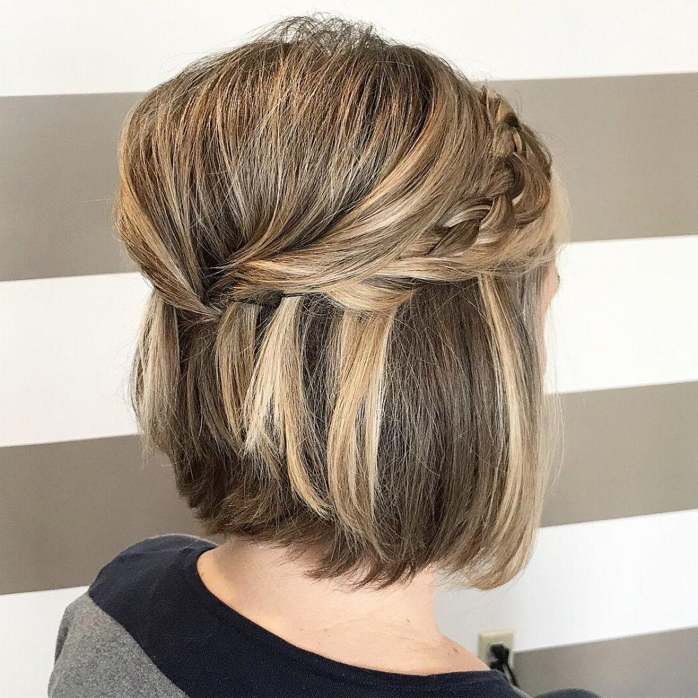Short Wedding Hairstyles, Ideas Of Wedding Updos For Short Hair Inside Hairstyle For Short Hair For Wedding (View 17 of 25)