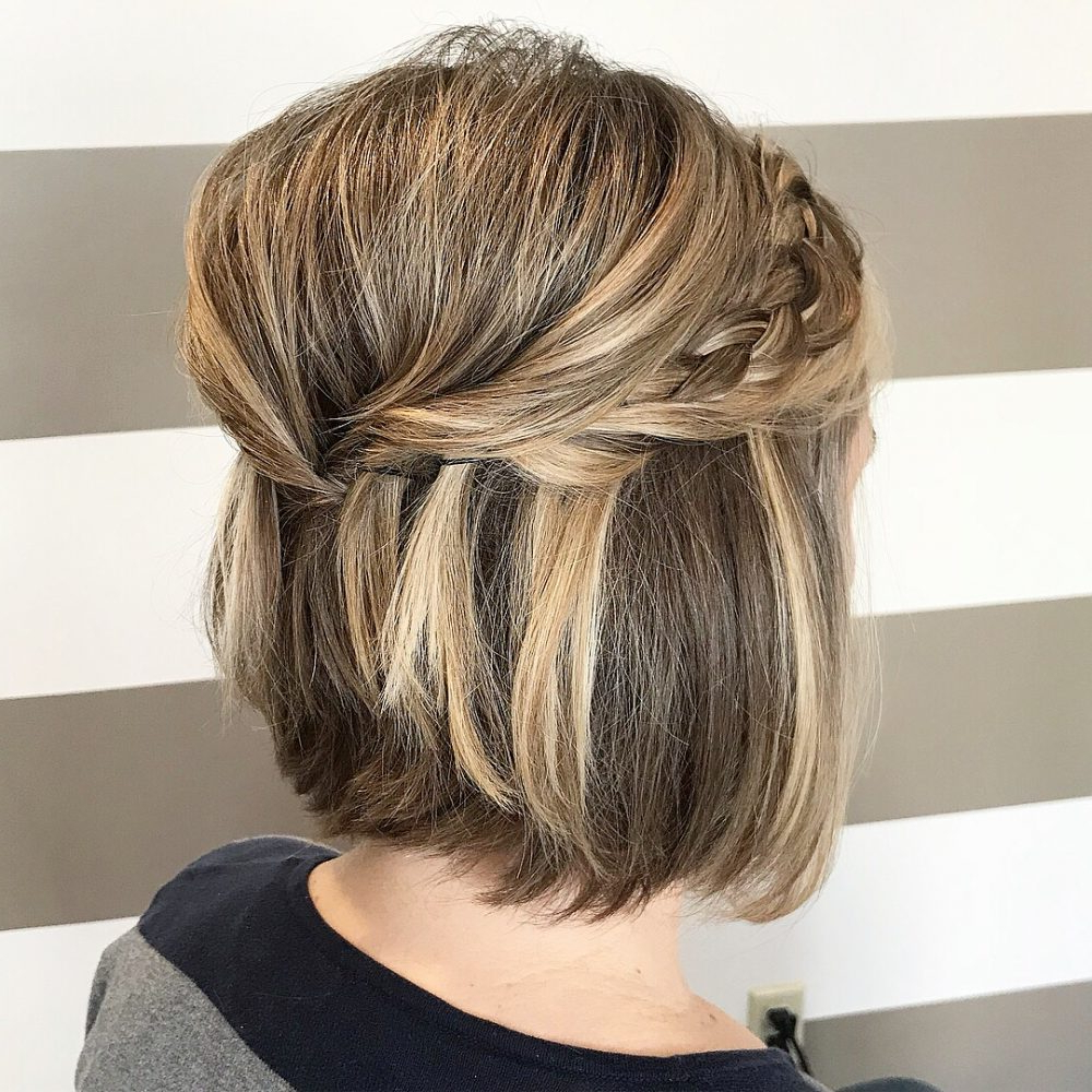 Short Wedding Hairstyles, Ideas Of Wedding Updos For Short Hair With Hairstyles For Brides With Short Hair (View 15 of 25)