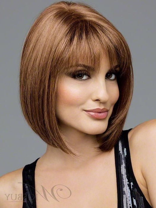 Shoulder Length Bob With Bangs | The Sporty Straight Shoulder Length Regarding Straight Cut Two Tone Bob Hairstyles (View 18 of 25)