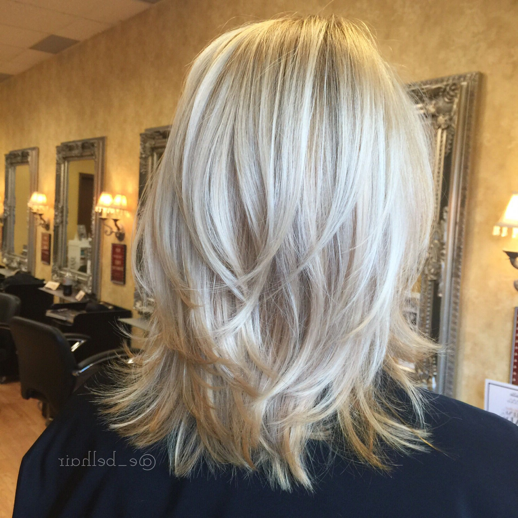 Shoulder Length Cut With Tousled Layers And Fresh Blonde Color | All In Short To Mid Length Layered Hairstyles (View 15 of 25)