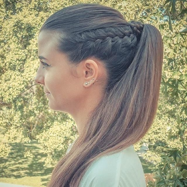 Side Braid & Ponytail #oliviagarden #beautytools | Summer Hair 2014 With Side Braid Ponytails For Medium Hair (View 21 of 25)