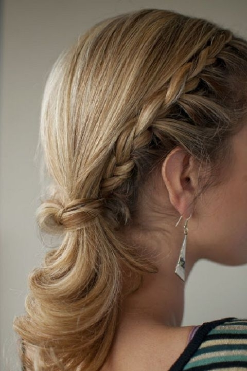 Side Braids With Pony | Hair | Pinterest | Pony, Ponytail And Hair Style Intended For Side Braid Ponytails For Medium Hair (View 12 of 25)