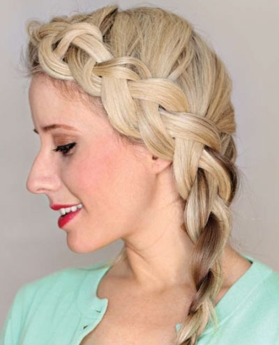 Side Dutch Braid | Tips, Tricks, & Techniques Maintenance Inside Braided Maze Low Ponytail Hairstyles (View 21 of 25)