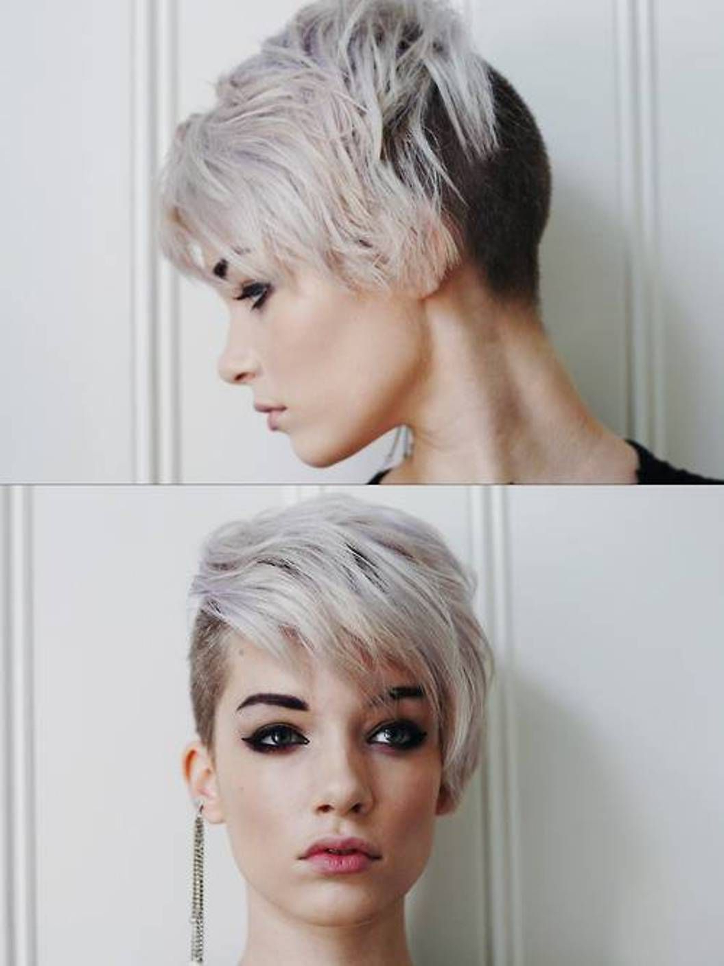 Side Shaved Short Haircuts For Women | Projects To Try | Pinterest Intended For Part Shaved Short Hairstyles (View 2 of 25)