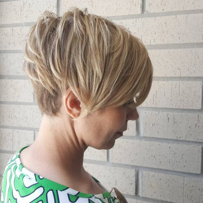 Side Swept And Undercut Pixie   Hairstyles   Pinterest   Short Hair Intended For Sweeping Pixie Hairstyles With Undercut (View 2 of 25)