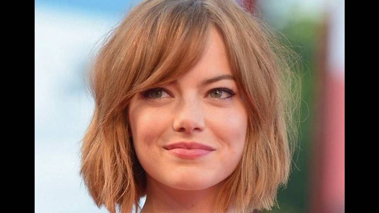Side Swept Bangs Suits Best For Short Hair Round Face – Youtube Within Short Haircuts Side Swept Bangs (View 18 of 25)