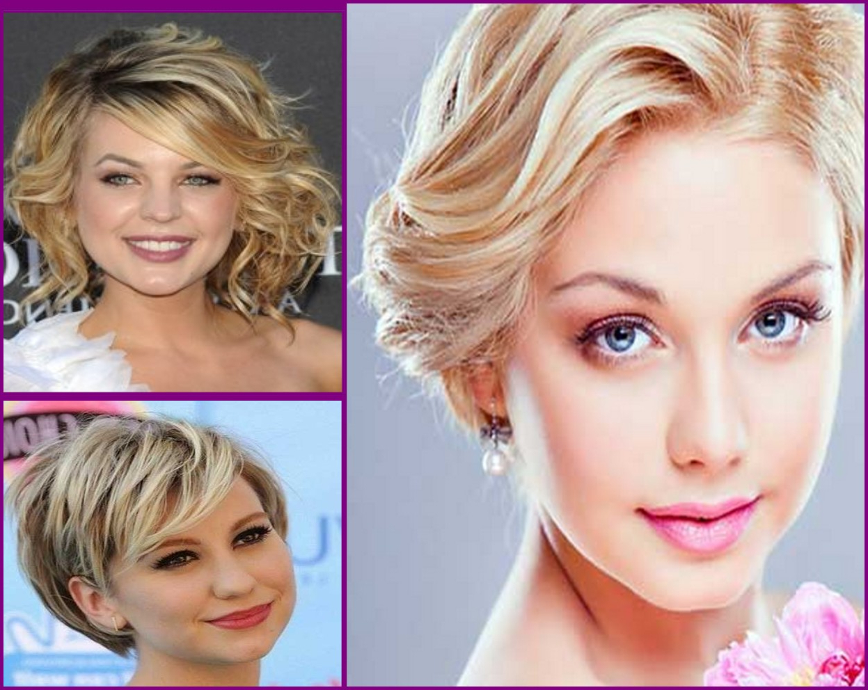 Side Swept Short Haircut For Wavy Hair Round Face – Hairstyles, Easy With Short Haircuts Curly Hair Round Face (View 23 of 25)