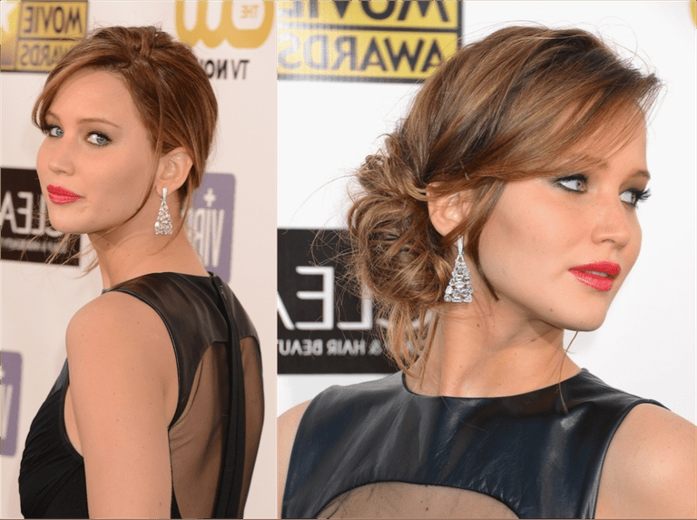 Side Updos: Hot Trends For Formal Occasions For Perfectly Imperfect Side Ponytail Hairstyles (View 18 of 25)