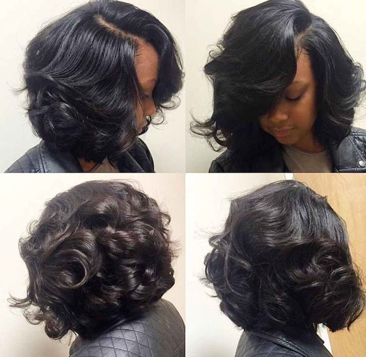 Silk Press & Curl | Hair Inspiration In 2018 | Hair Styles, Hair Intended For Bouncy Curly Black Bob Hairstyles (View 23 of 25)