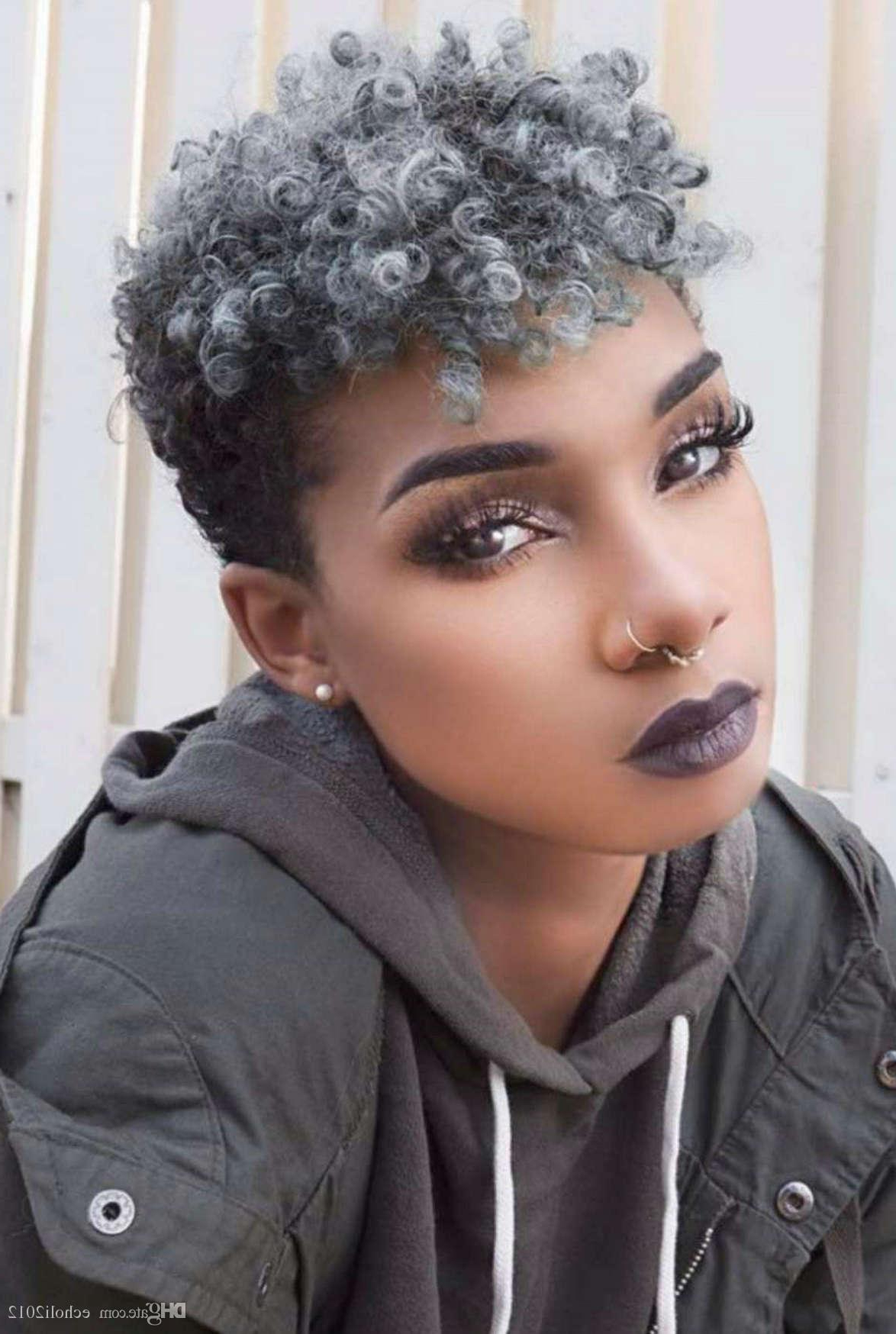 Silver Grey Hair Women Ponytail Extension Short Afro Kinky Curly Intended For Short Hairstyles For Grey Haired Woman (View 22 of 25)