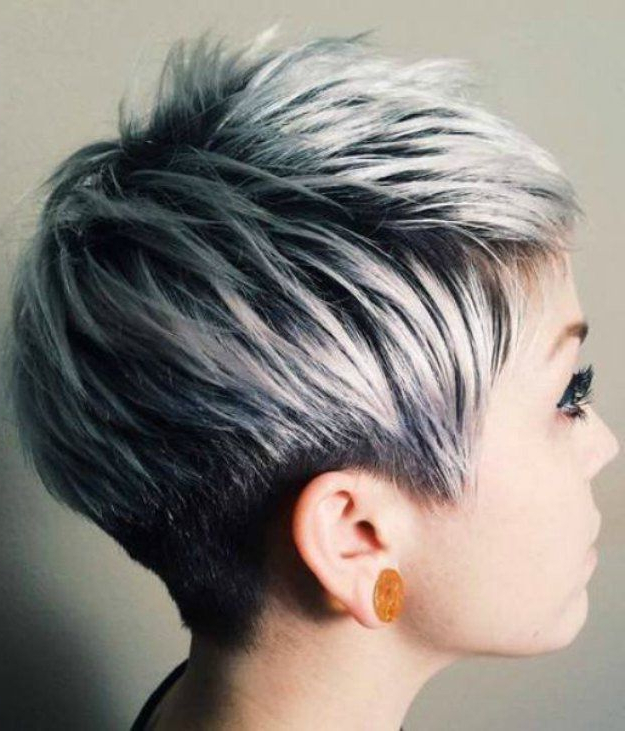 Silver Ombre Hair | Hair | Pinterest | Short Hair Styles, Hair And Intended For Sleek Metallic White Pixie Bob Haircuts (View 5 of 25)