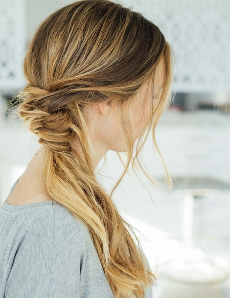 Simple Messy Ponytail Braid Hairstyles 2018 Within Fiercely Braided Ponytail Hairstyles (View 20 of 25)