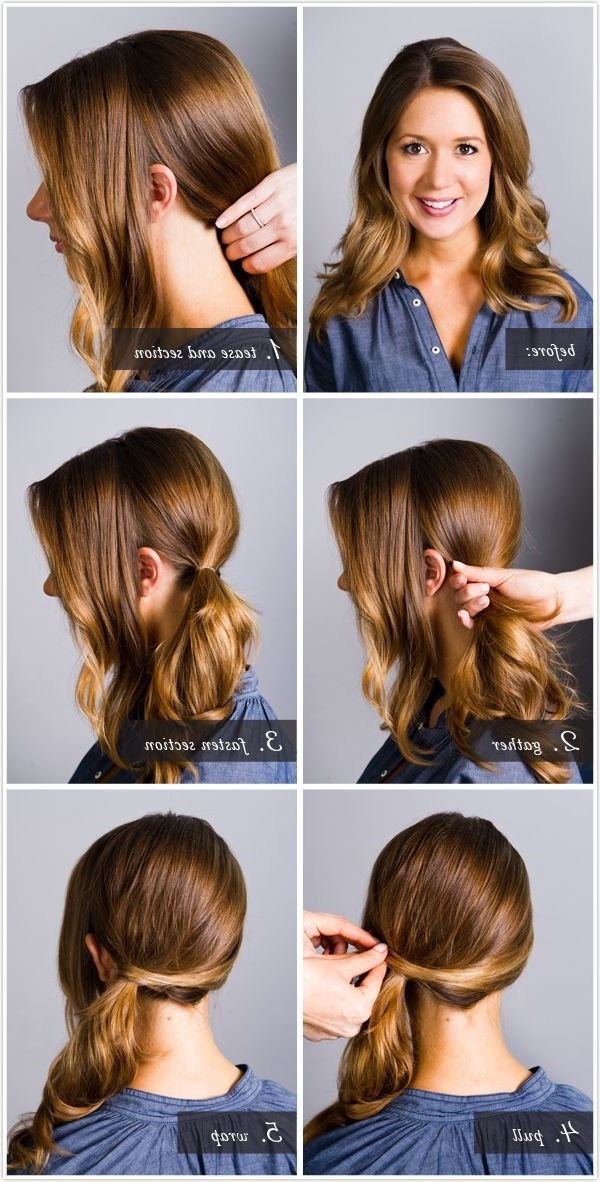 Simple Quick Fashion Way Of Different Pony Tail Hairstyles With Regard To Twisted Front Curly Side Ponytail Hairstyles (View 8 of 25)