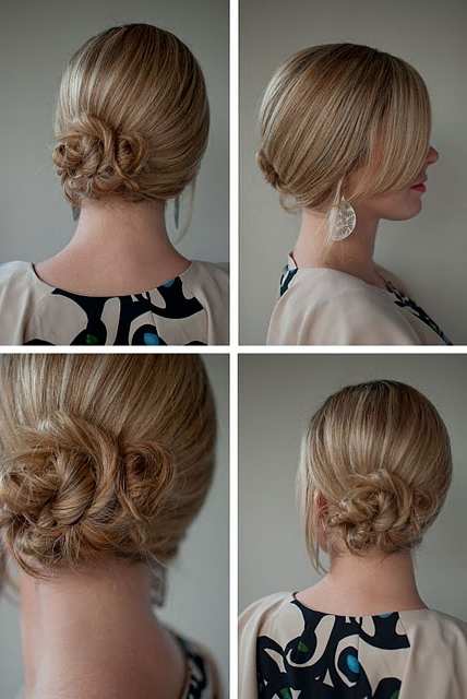 Simple Twist & Pin Side Chignon – Romantic Low Updo For Wedding Intended For Twisted And Pinned Blonde Ponytails (View 12 of 25)