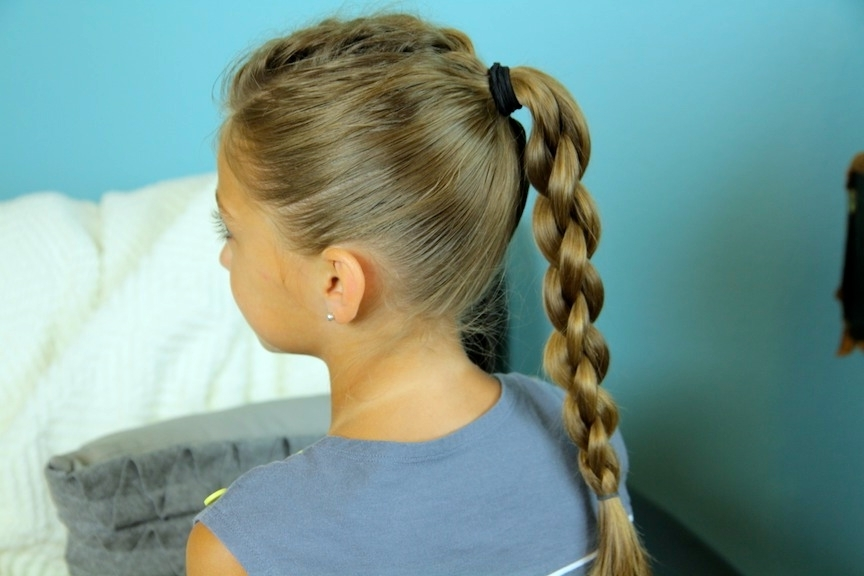 Single Frenchback Into Round Braid | Back To School Hairstyles With Regard To Twin Braid Updo Ponytail Hairstyles (View 14 of 25)
