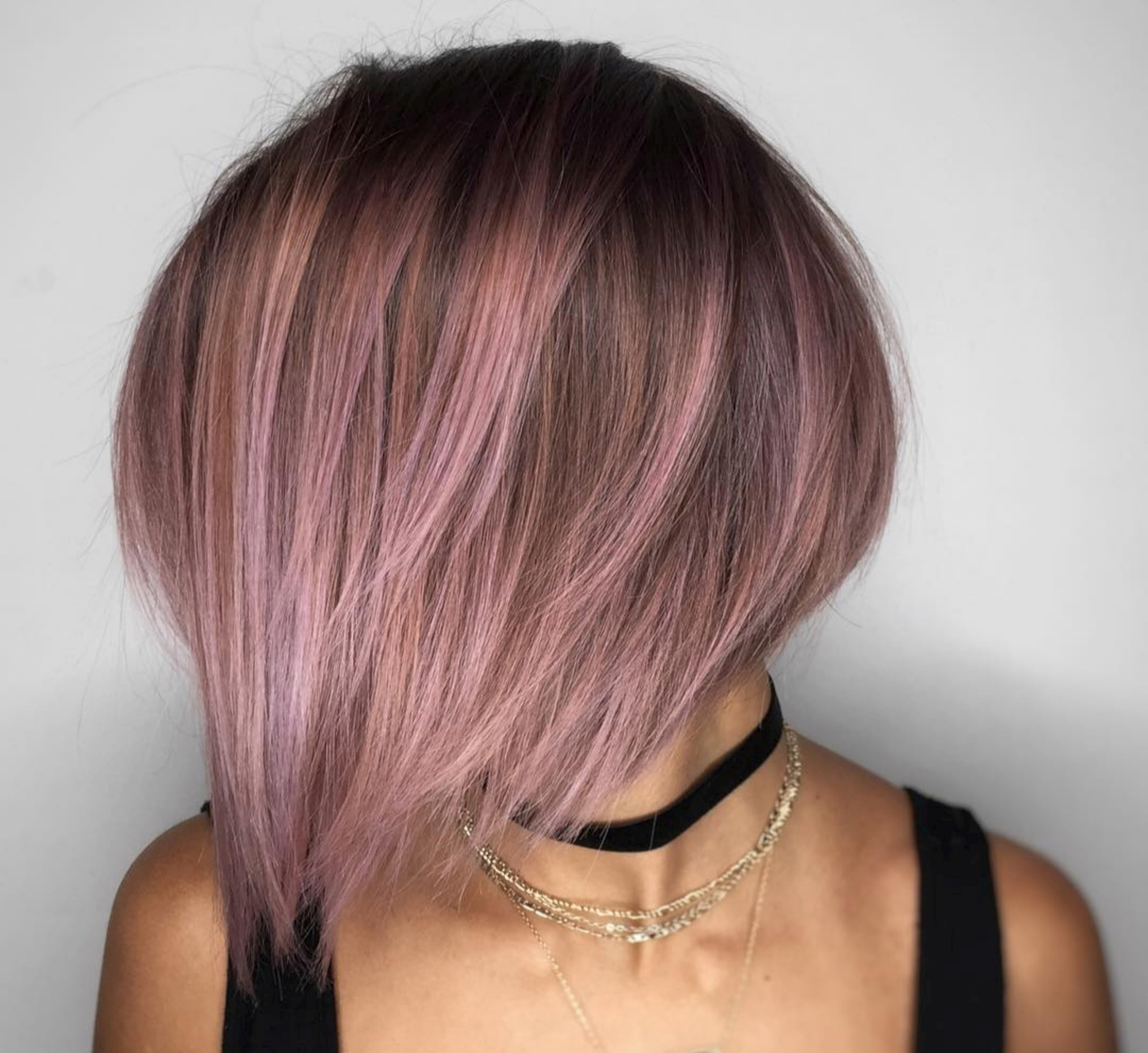 Smokey Pink Color Short Hair Style Wallpaper – Cr Wallpaper Pertaining To Pinks Short Haircuts (View 20 of 25)