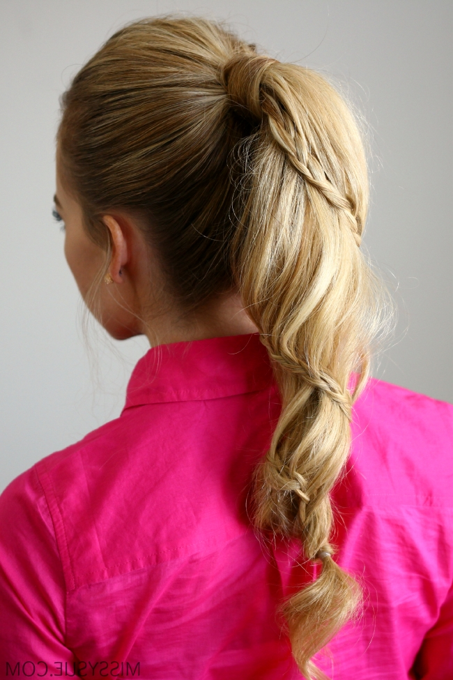 Spiral Braided Ponytail Within Cascading Braided Ponytails (View 21 of 25)