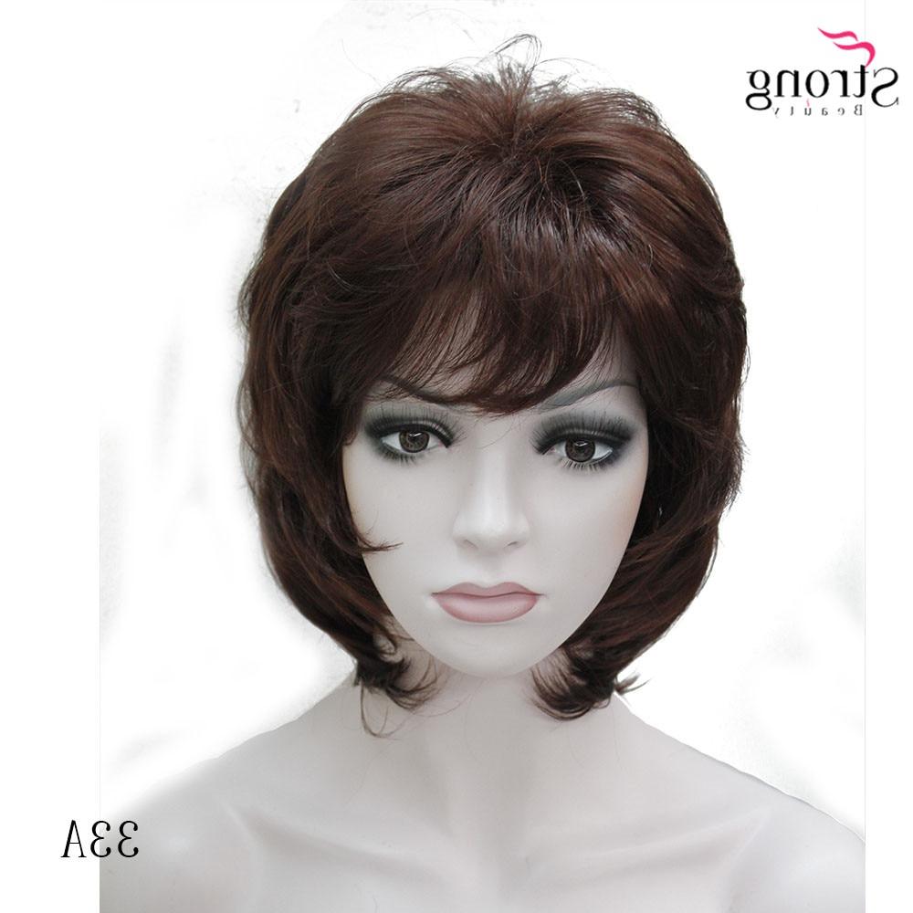 Strongbeauty Women Synthetic Wig Short Hair Auburn/blonde Natural Regarding Auburn Short Hairstyles (View 20 of 25)