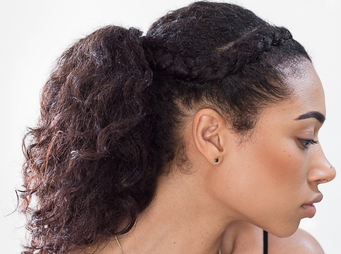 Stunning Goddess Braids Styles | Goddess Braids Inspiration In Regal Braided Up Do Ponytail Hairstyles (View 11 of 25)