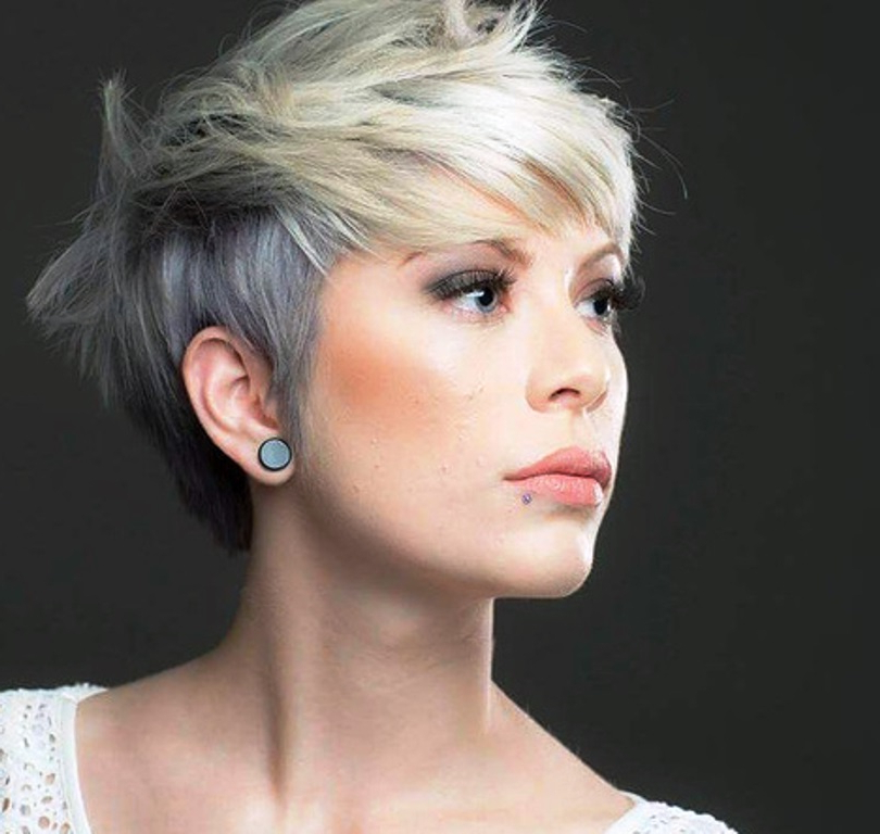 Stylenoted | Great Cut & Color Combos: The Ashy Blonde Pixie Cut Inside Long Messy Ash Blonde Pixie Haircuts (View 16 of 25)