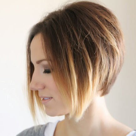 Styling An Angled Bob: Easy Everyday Tutorial – One Little Momma With Sleek Blonde Bob Haircuts With Backcombed Crown (View 15 of 25)