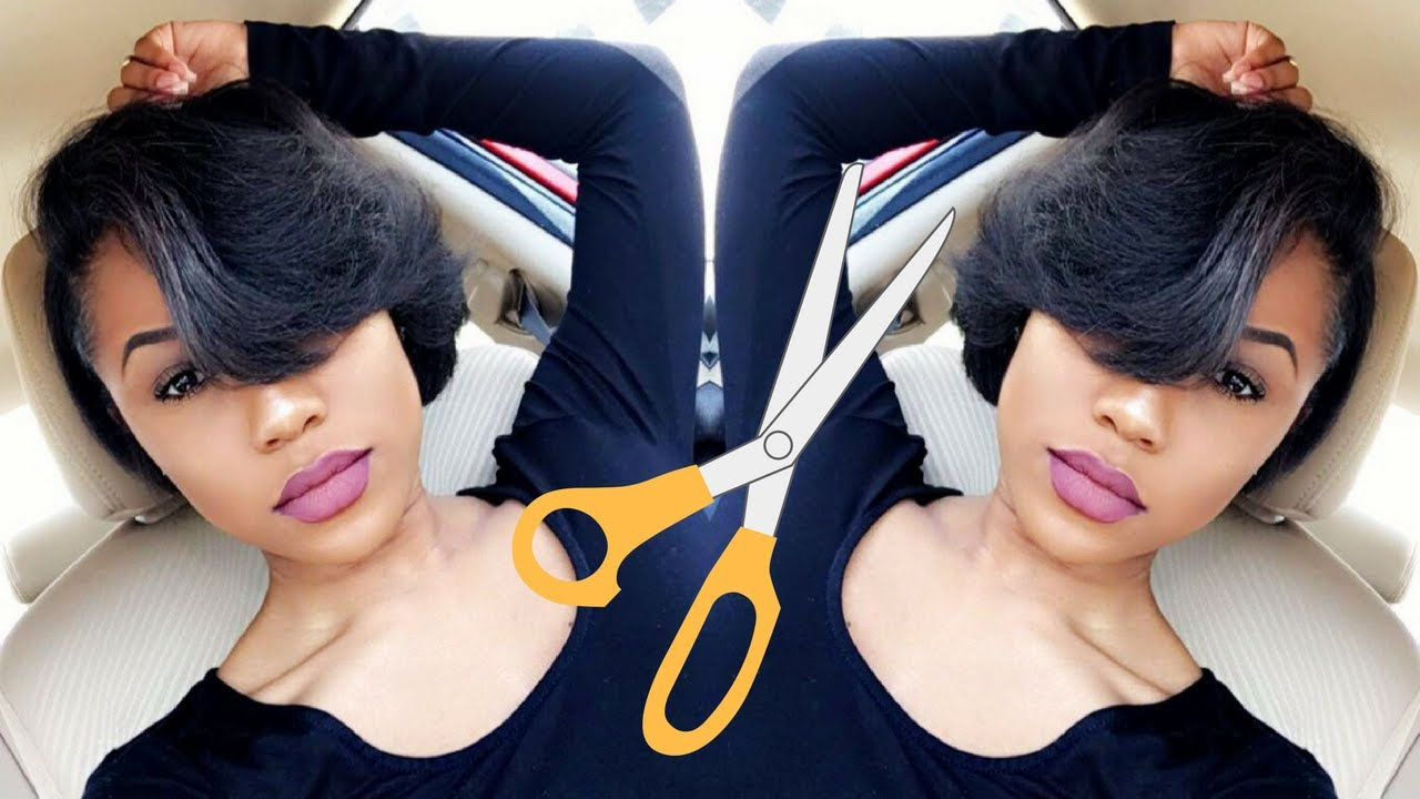 Styling My Super Short Relaxed Hair   Hair Update – Youtube In Super Short Hairstyles For Black Women (View 14 of 25)