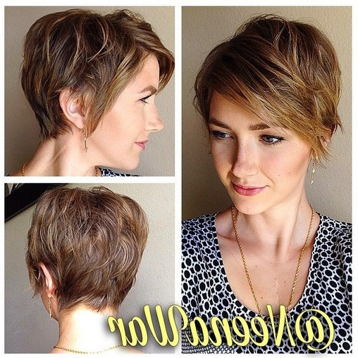 Stylish Short Haircut You Will Love! Layered Pixie Cut With Long Inside Long Pixie Hairstyles With Bangs (View 20 of 25)