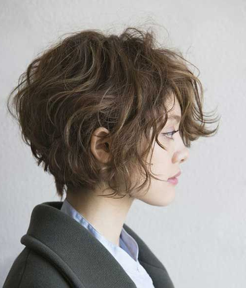 Stylish Short Haircuts For Curly Wavy Hair | Hairstyles | Pinterest Intended For Short Wavy Haircuts With Messy Layers (View 24 of 25)