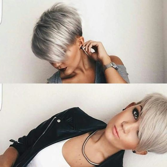 Stylish Short Pixie Haircut With Side Swept Bangs – Undercut For Throughout Sweeping Pixie Hairstyles With Undercut (View 6 of 25)