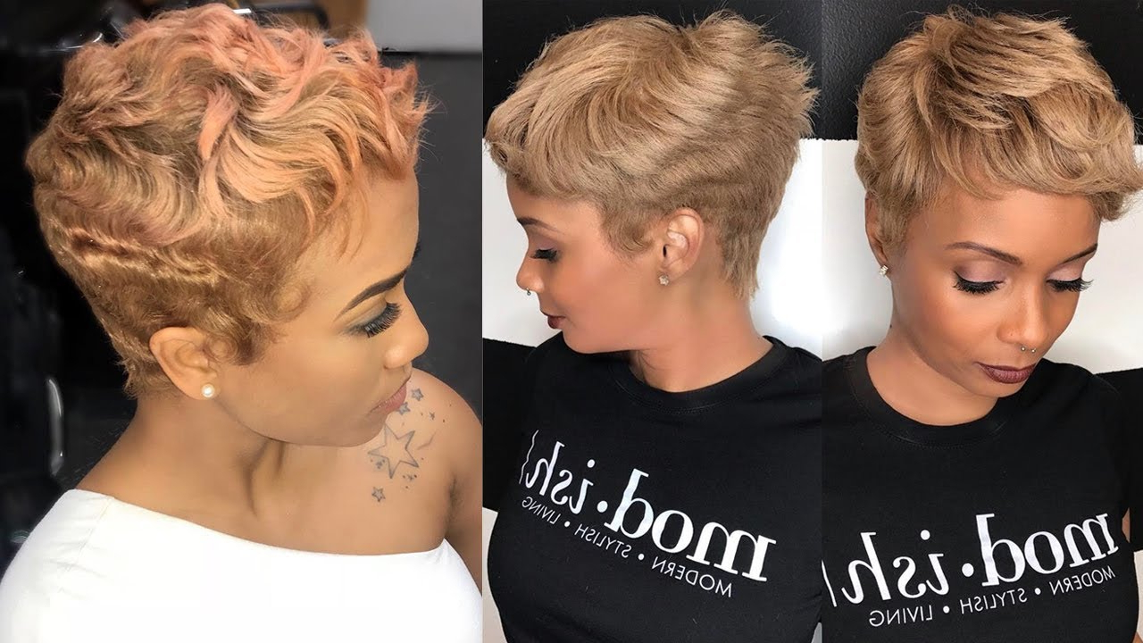 Summer Short Haircuts For Black Women & Very Short Pixie Hair Pertaining To Short Haircuts For Black (View 24 of 25)