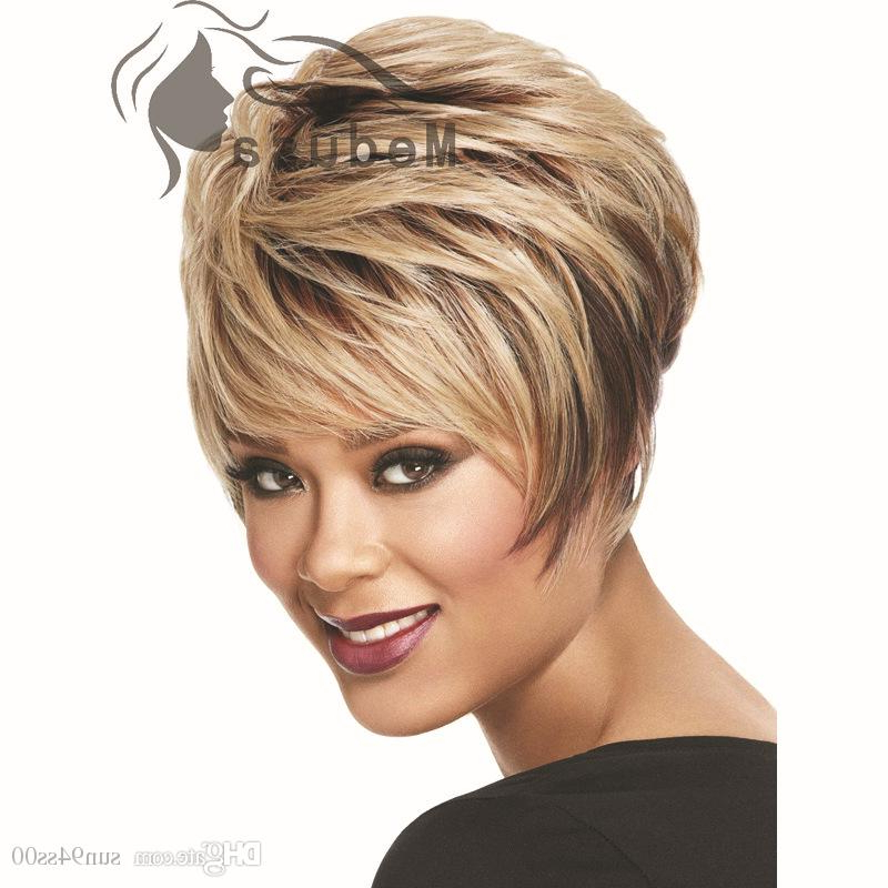 Sunny Hair Products: 2015 Styles Short Blonde Bob Wig With Bangs Intended For Sunny Blonde Finely Chopped Pixie Haircuts (View 5 of 25)