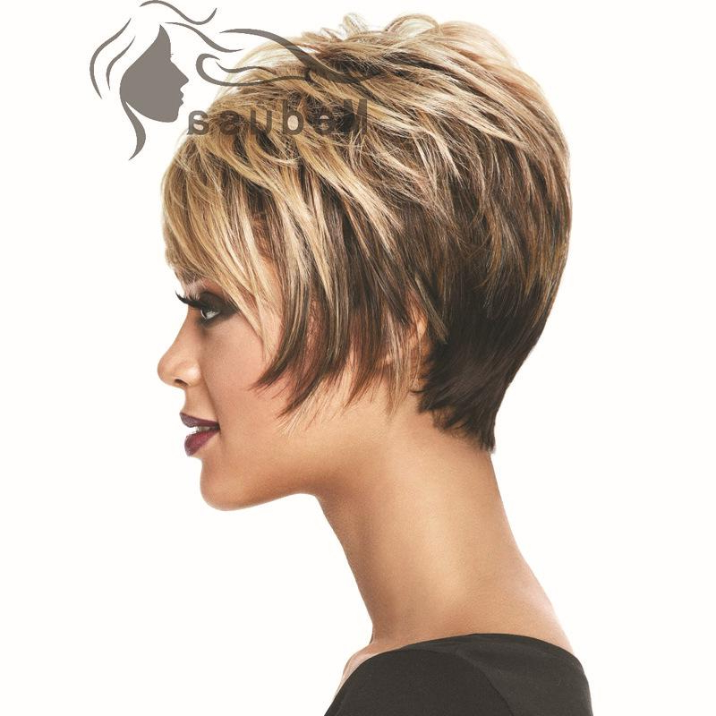 Sunny Hair Products: 2015 Styles Short Blonde Bob Wig With Bangs Throughout Sunny Blonde Finely Chopped Pixie Haircuts (View 24 of 25)