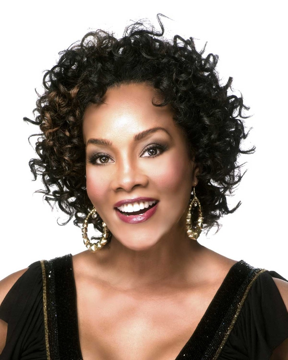 Synthetic Hair Black Curly Short Wigs For Black Women Fashion Within Curly Short Hairstyles Black Women (View 25 of 25)