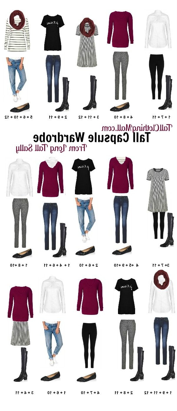 Tall Capsule Wardrobe From Long Tall Sally #capsule #fall #fashion Regarding Short Haircuts For Tall Women (View 17 of 25)