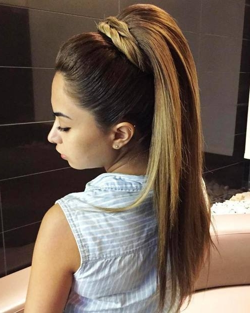 Tall Crown Ponytail With Straight Hair: – Best Hairstyle Models Inside Braided Crown Pony Hairstyles (View 13 of 25)