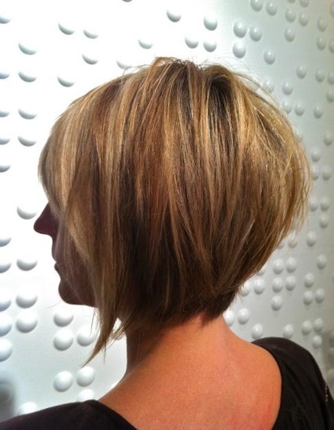 Tapered Bob Haircuts: Ombre Short Hair – Popular Haircuts Regarding Short Tapered Bob Hairstyles With Long Bangs (View 9 of 25)