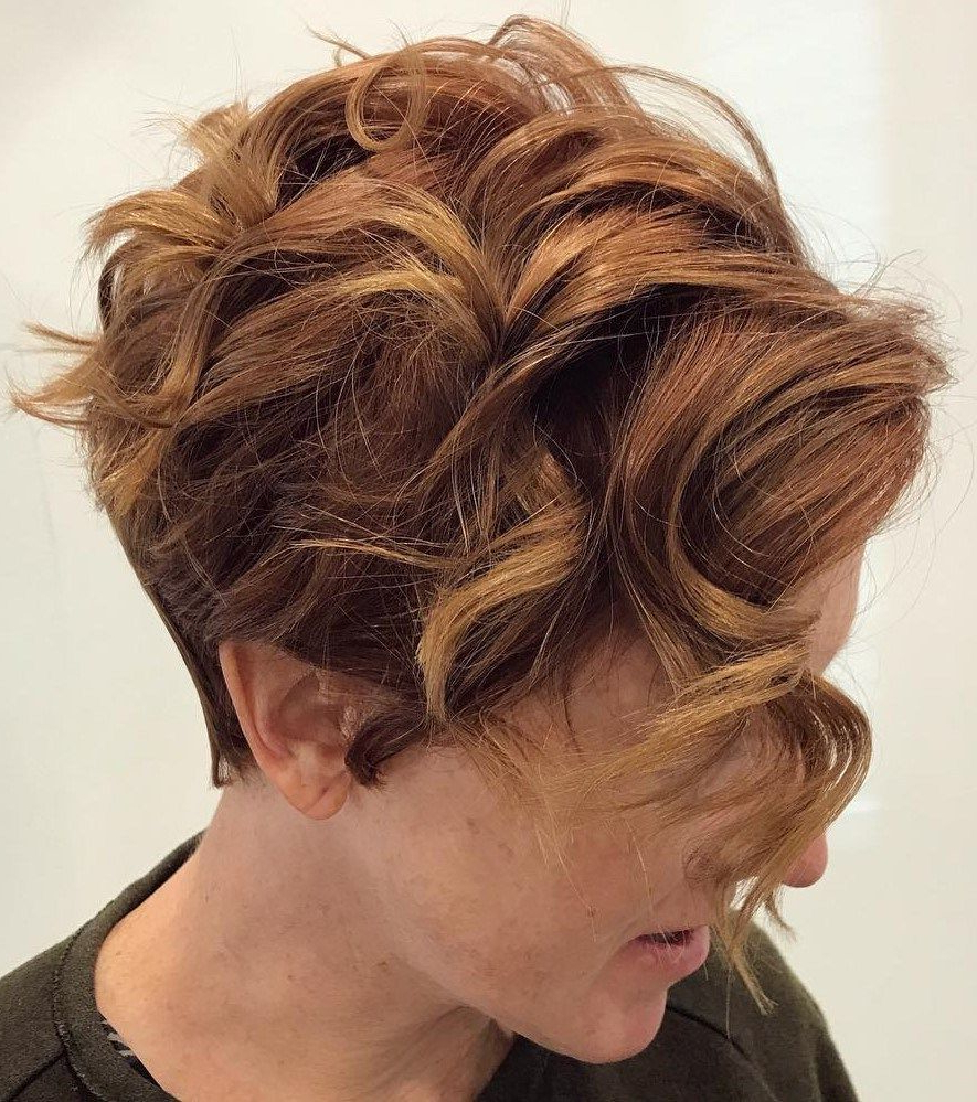 Featured Photo of Tapered Brown Pixie Hairstyles With Ginger Curls
