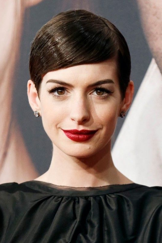 Texture Is A Must For Short Hair, But The Way That Anne Hathaway Has Regarding Sleeked Down Pixie Hairstyles With Texturizing (View 24 of 25)