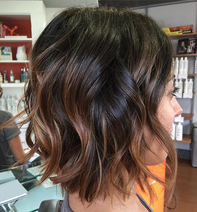 Textured   Disheveled   Sexy Hair Cut   Hair Painting@ana Inside Disheveled Brunette Choppy Bob Hairstyles (View 8 of 25)