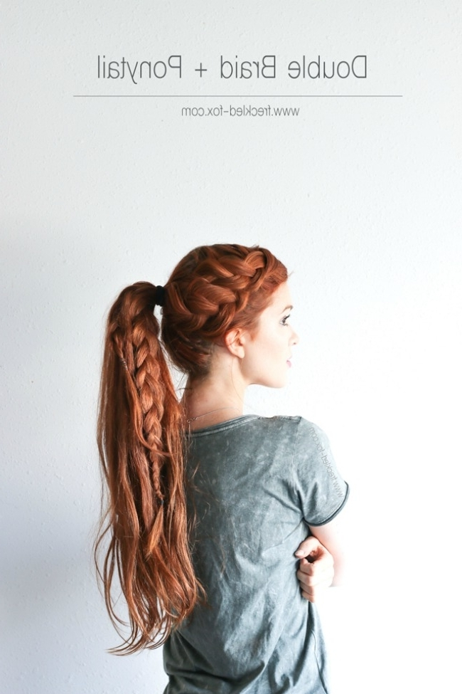 The 11 Best Trendy Ponytail Hairstyles | The Eleven Best In Messy Double Braid Ponytail Hairstyles (View 17 of 25)