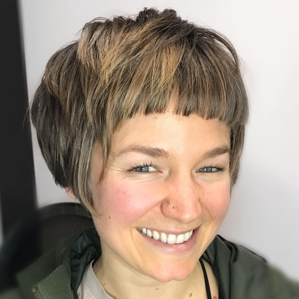 The 41 Perfect Short Hairstyles For Long Faces For Short Haircuts For Large Foreheads (View 9 of 25)