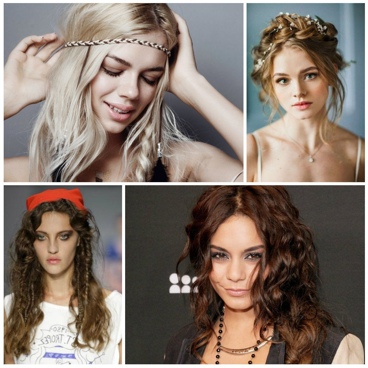 The Best Gorgeous Bohemian Messy Hairstyles From Fashion Weeks U Within Bohemian Short Hairstyles (View 13 of 25)