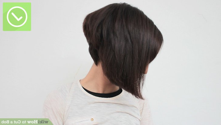 The Best Way To Cut A Bob – Wikihow Within Voluminous Nape Length Inverted Bob Hairstyles (View 23 of 25)