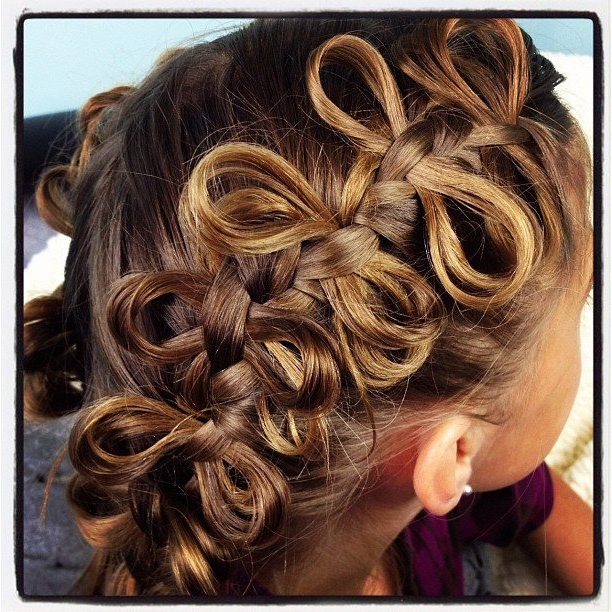 The Bow Braid | Cute Braided Hairstyles | Cute Girls Hairstyles Pertaining To Diagonally Braided Ponytail Hairstyles (View 17 of 25)